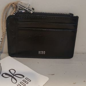 NWT Hobo black leather keychain wallet.